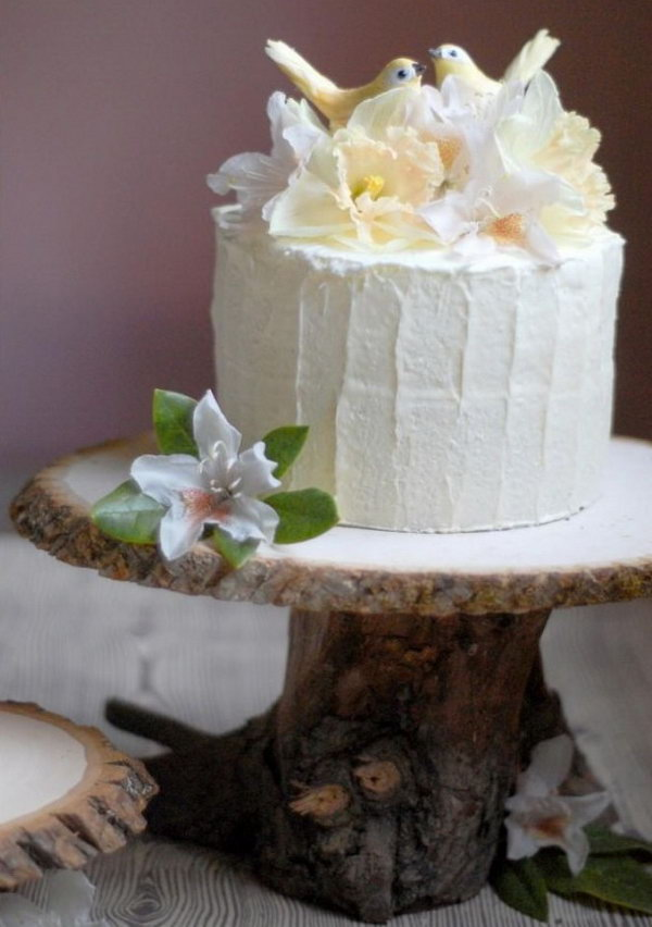Wood Wedding Cake Stand. See more directions