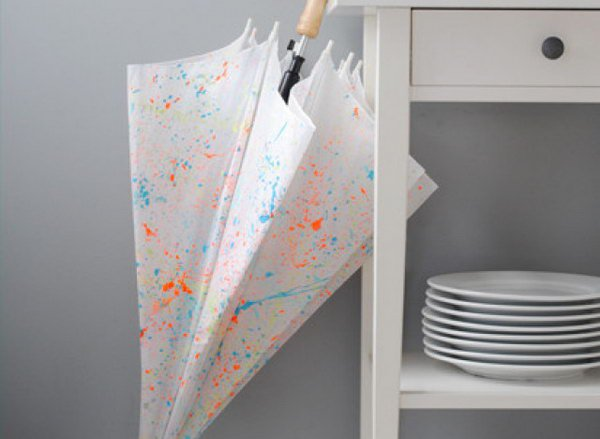 Paint Splattered Umbrella