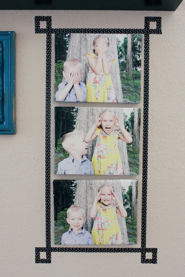 Use Washi Tape to Add a Fun and Easy Faux frame.