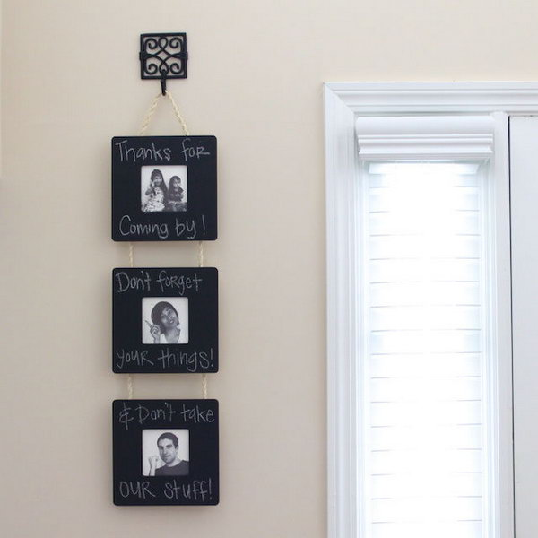 Chalkboard Frame Wall Hanging.