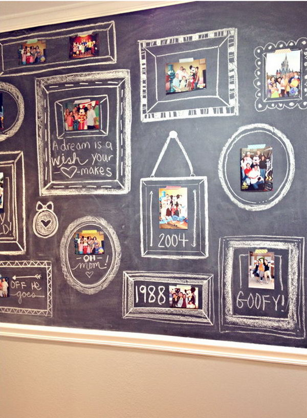 Chalkboard Photo Wall.