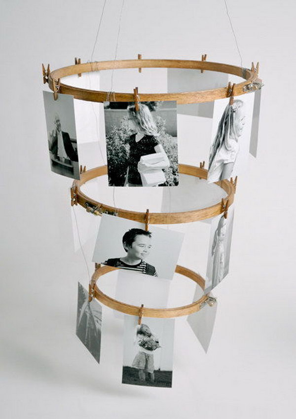 Embroidery Hoop Photo Display.