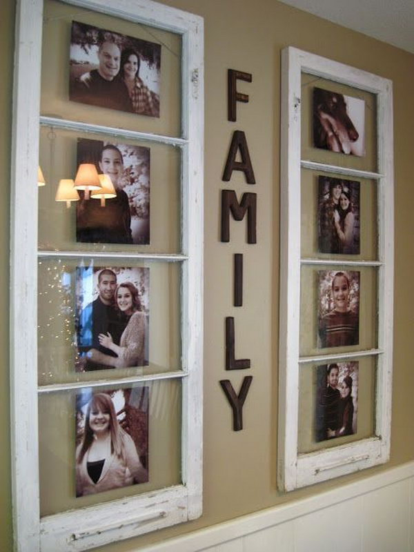 Old Wooden Window  Photo Frames.
