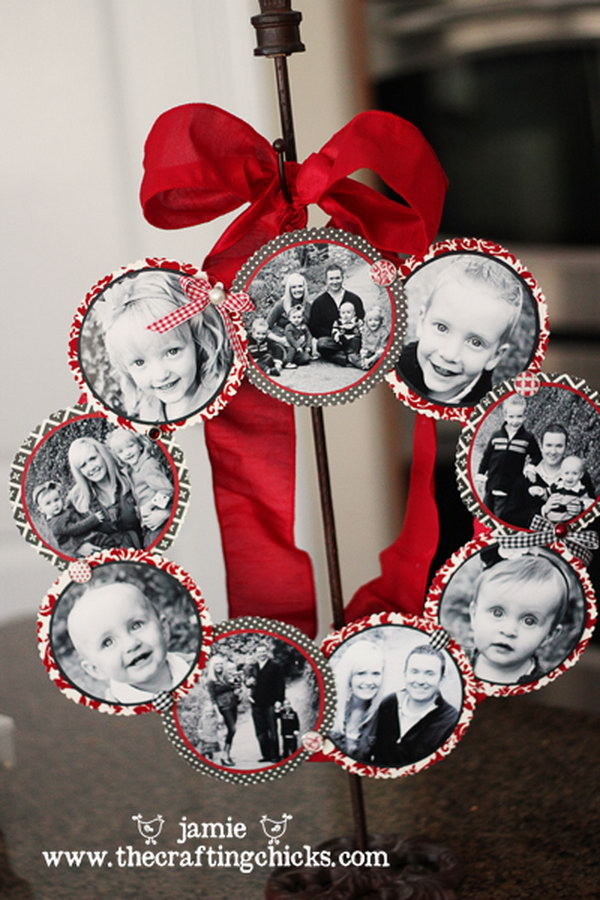 Family Photo Wreath .