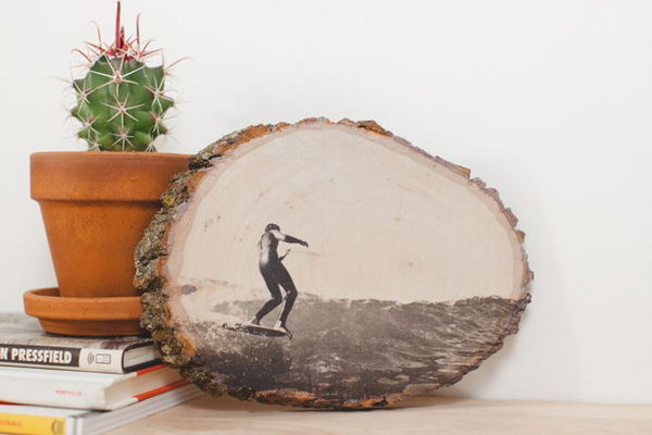 Display Photos on Wood.