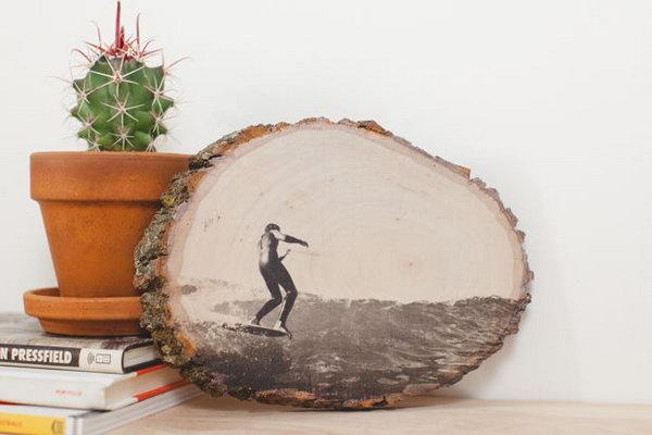 Display Photos on Wood.