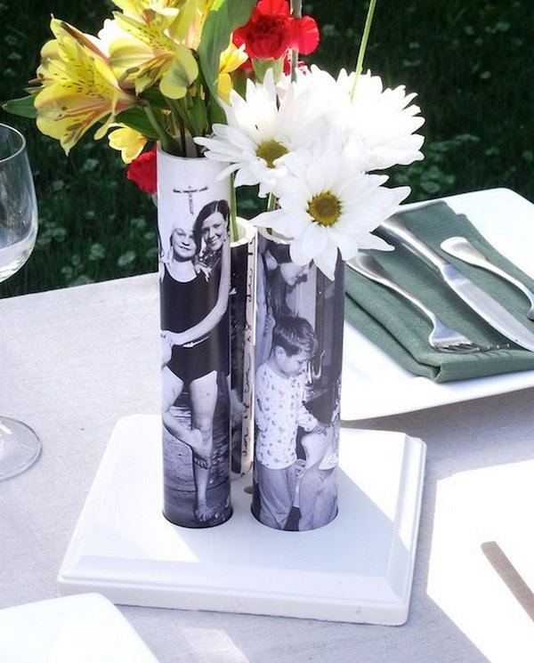 DIY Photo Vase From PVC Pipe.