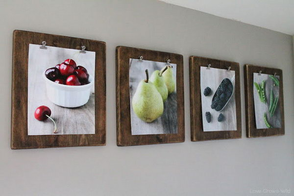 DIY Photo Clipboards.