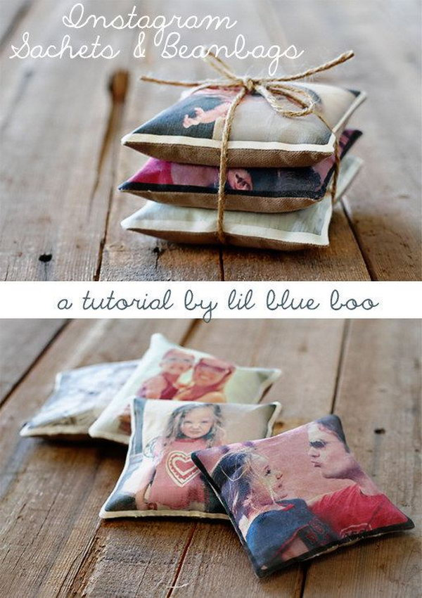 DIY Instagram Sachets and Beanbags.