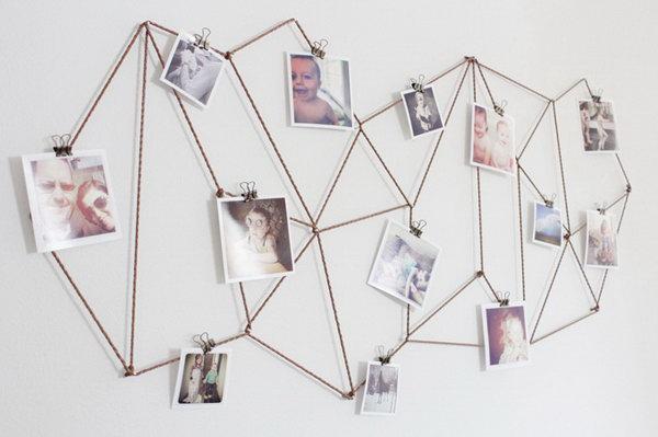 DIY Geometric Photo Display.