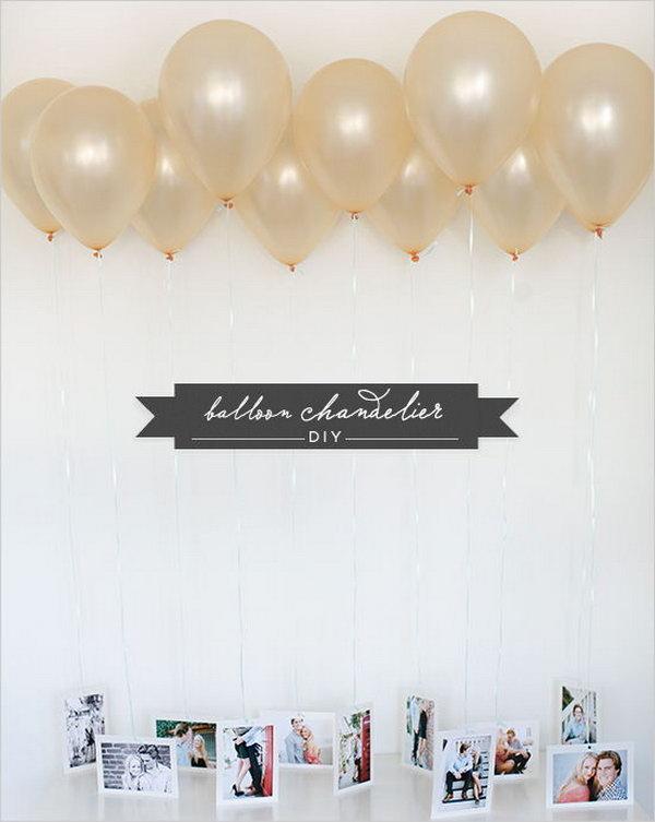 DIY Balloon Chandelier.