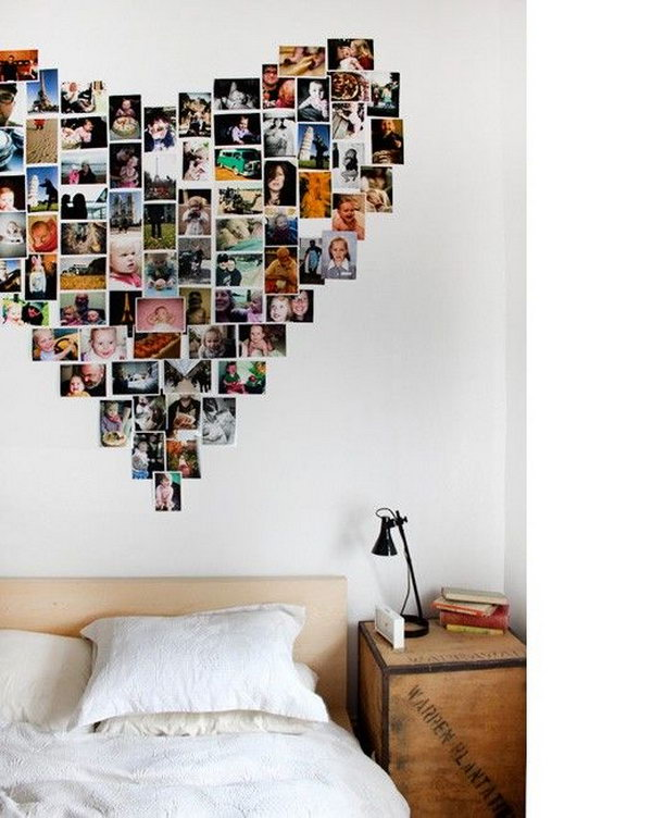 Picture Display in Heart Shaped.