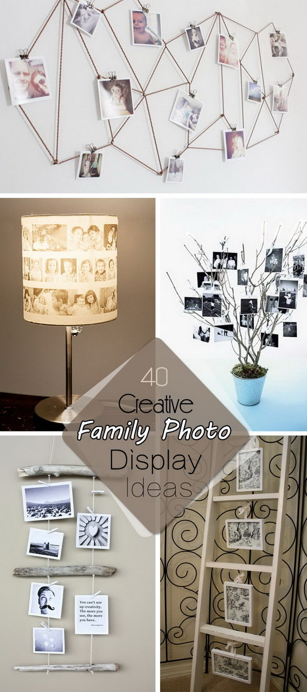Creative Family Photo Display Ideas!