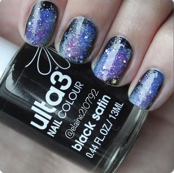 Galaxy Nails Tutorial. See the tutorial