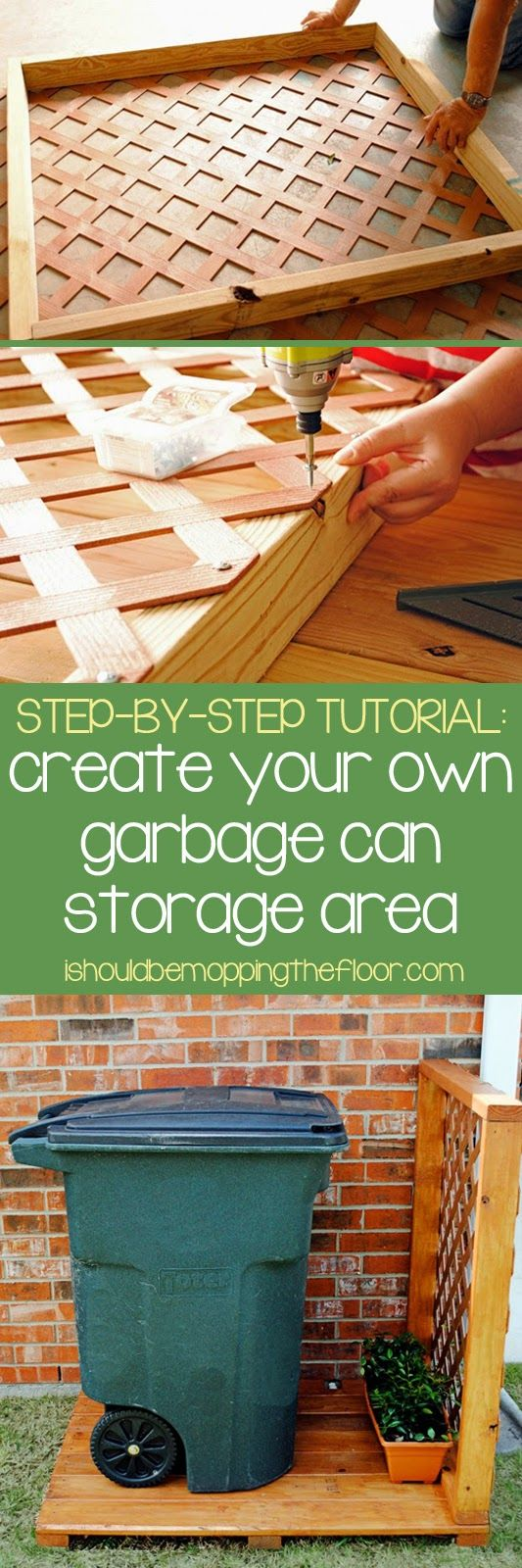 Create a Simple Garbage Can Storage Area. See more details