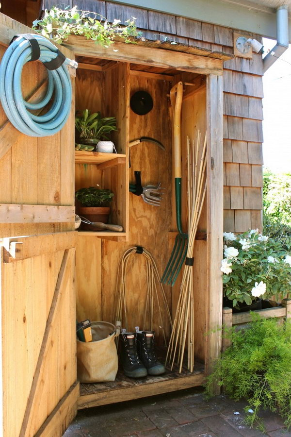 Basic Tool Storage with a Cupboard size Storage Unit.