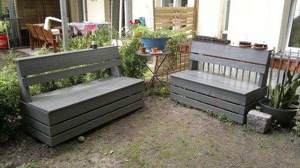 Easy Garden Storage Bench. See more details