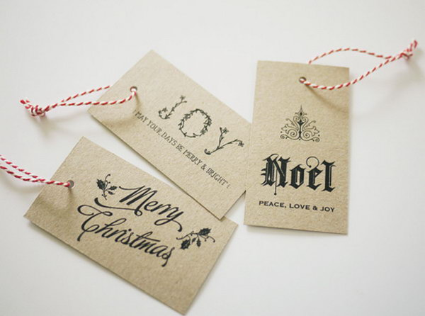 Classy Gift Tags.