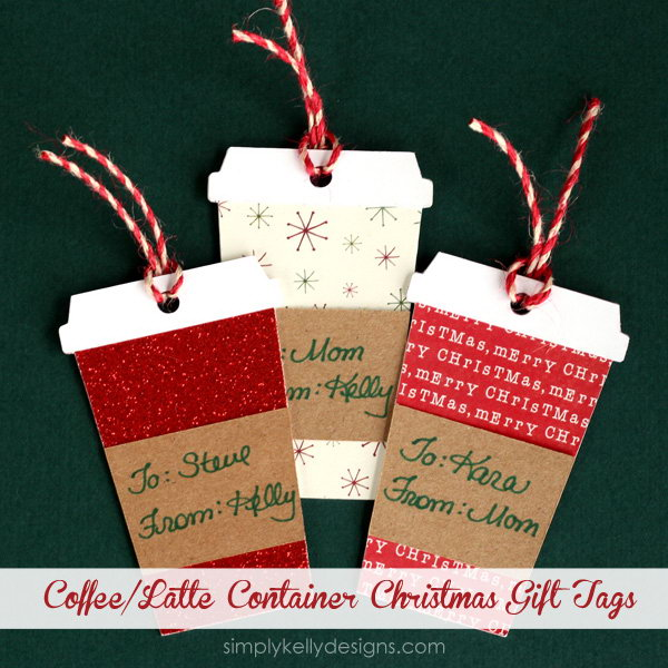 Christmas Gift Tags With Free Cut File.