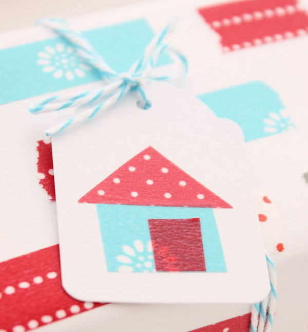 Washi Tape Gift Tags.