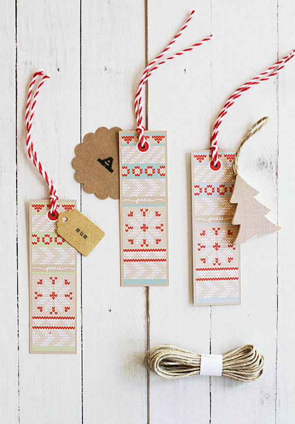 Sweater Knit Gift Tags.