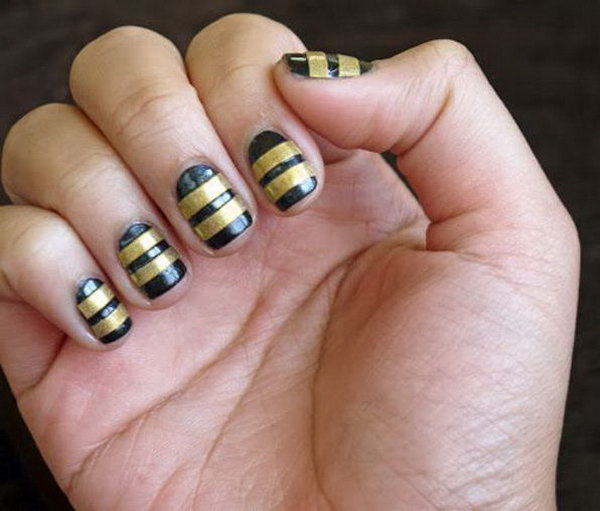 Black and Gold Stripes. Such beautiful colors, cannot wait to try them!