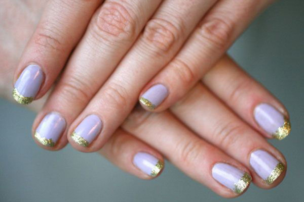 Gold French Mani. Such beautiful colors, cannot wait to try them!