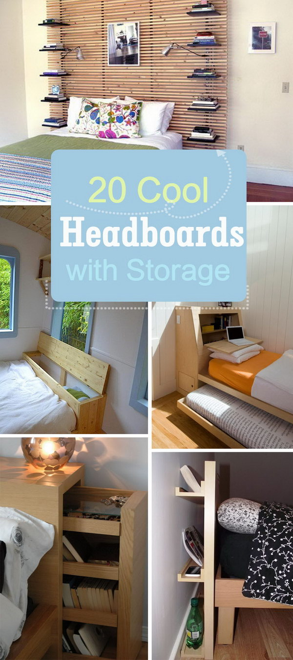 Cool Headboards with Storage!