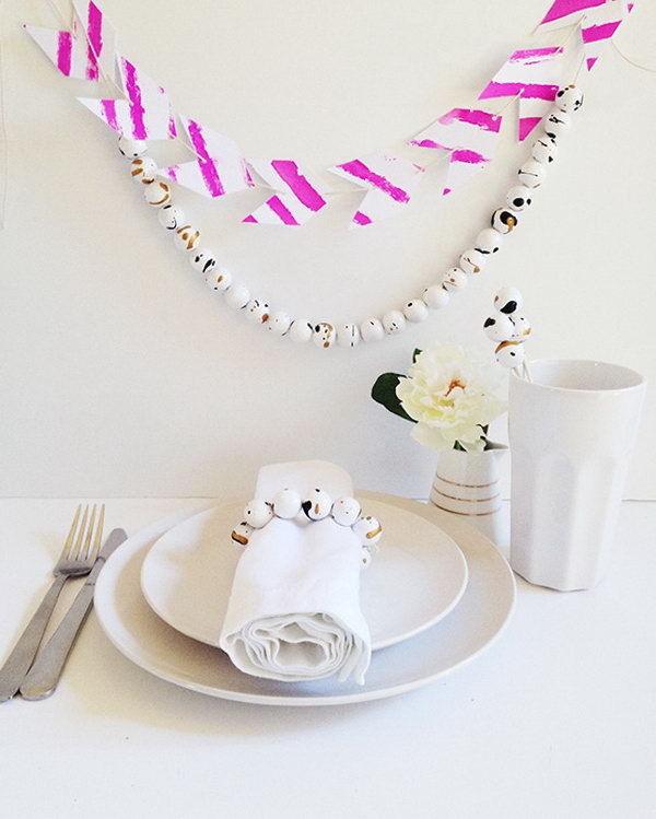 Paint Splatter Bead Garland. Get the tutorial