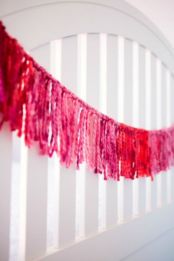 Ombre Yarn Garland. Get the instructions