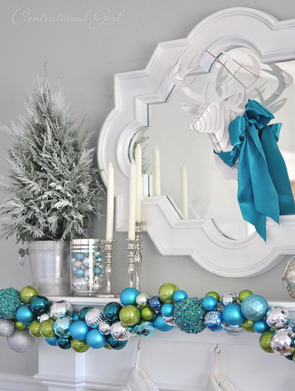 DIY Ornament Garland. Check out the steps
