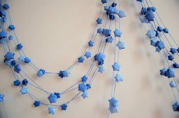 Paper Stars Garland. See more