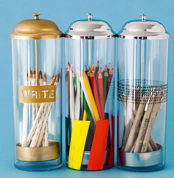 Pop Up Pencil Holders.