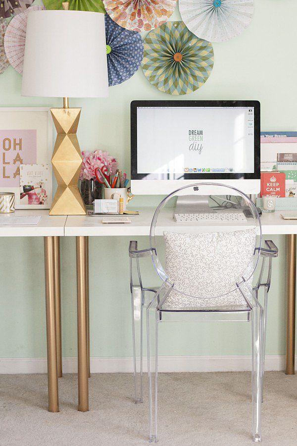 Leggy Gold Home Office Desk. See more details