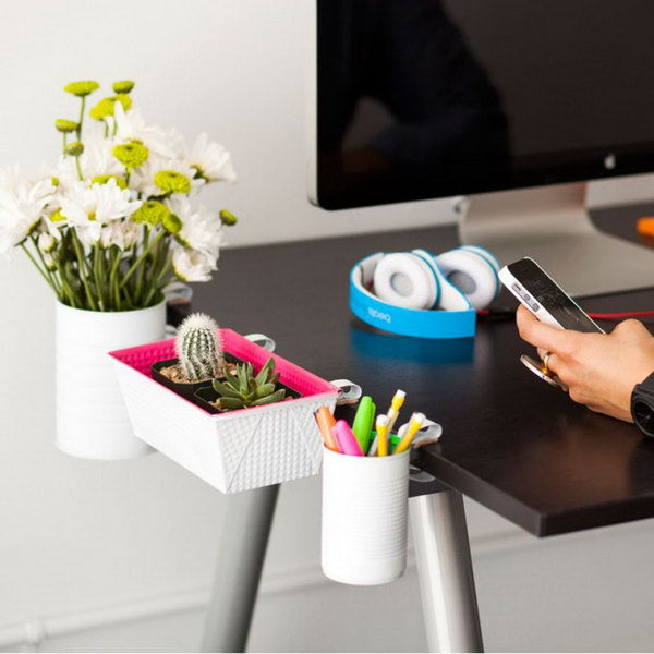 Clip On Desk Organizers. Get the tutorial