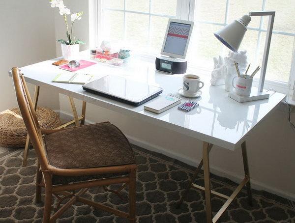 Gold A Frame Desk. Get the tutorial