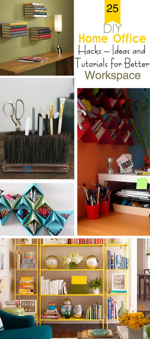DIY Home Office Hacks · Ideas and Tutorials for Better Workspace!