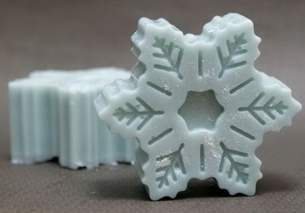 Winter Snowflake Solid Lotion Bar