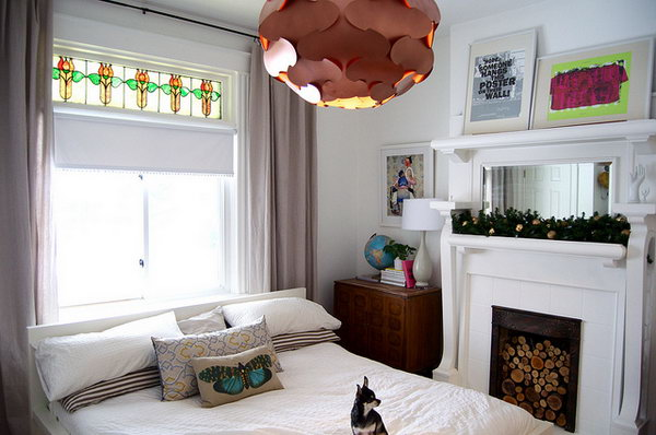 IKEA Fillsta Pendant Lamp Updated with some Copper Spray Paint. Get the instructions