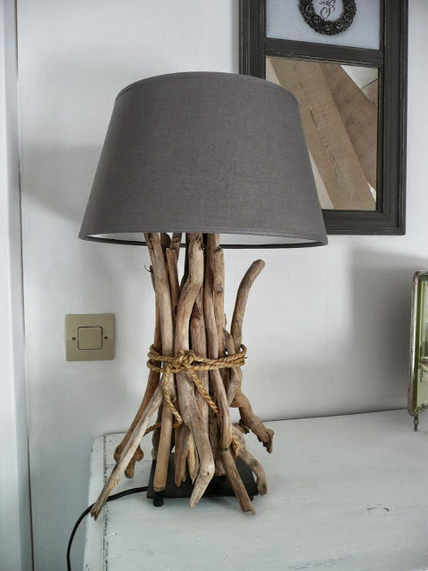 Drift Wood Lamp. Get the instructions