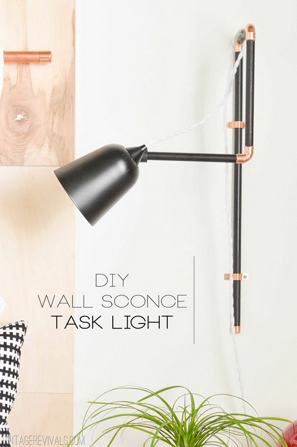 DIY Wall Sconce. Get the tutorial