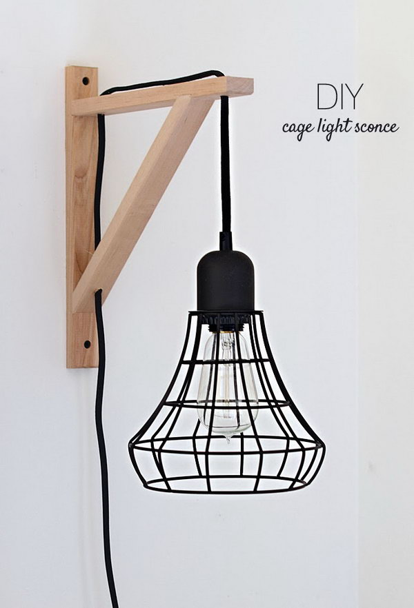 Cage Light Sconces.  Check out the directions