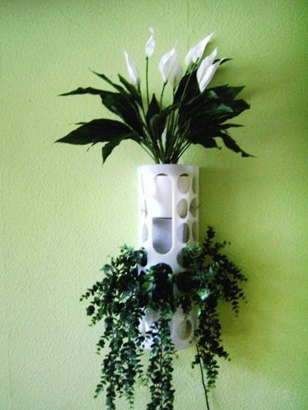 IKEA VARIERA Plastic Bag Holder Used as a Planter.
