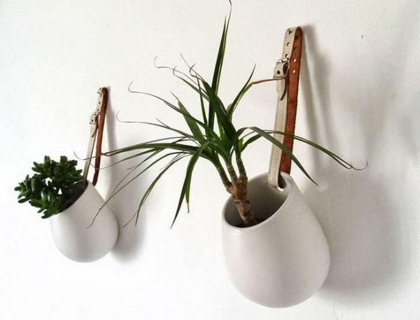Belted Hanging Pots.