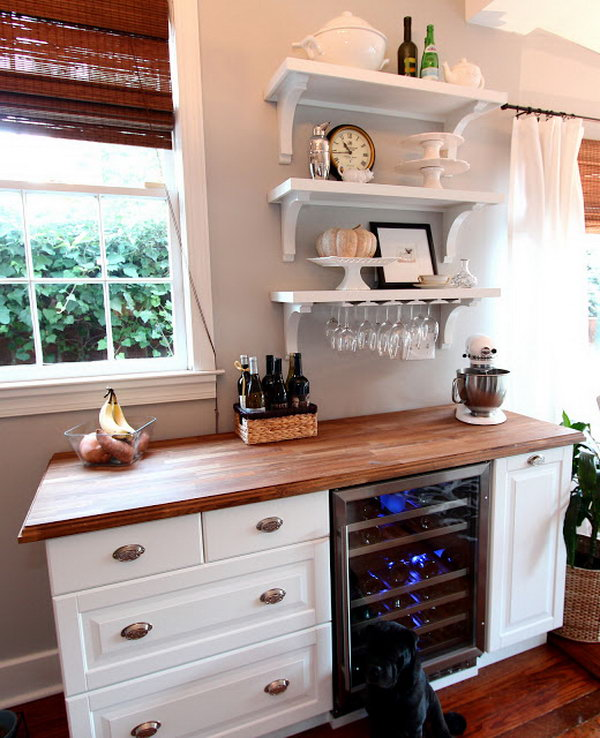 DIY Wine Bar. Get the tutorial