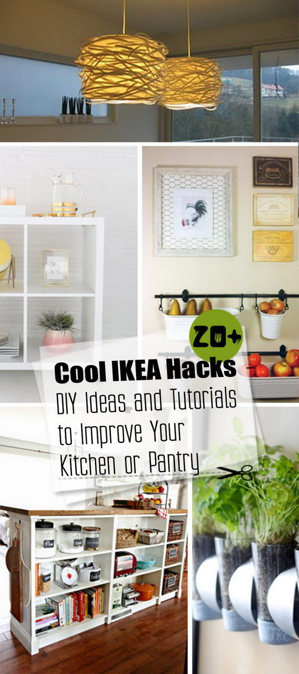 Cool IKEA Hacks · DIY Ideas and Tutorials to Improve Your Kitchen or Pantry!