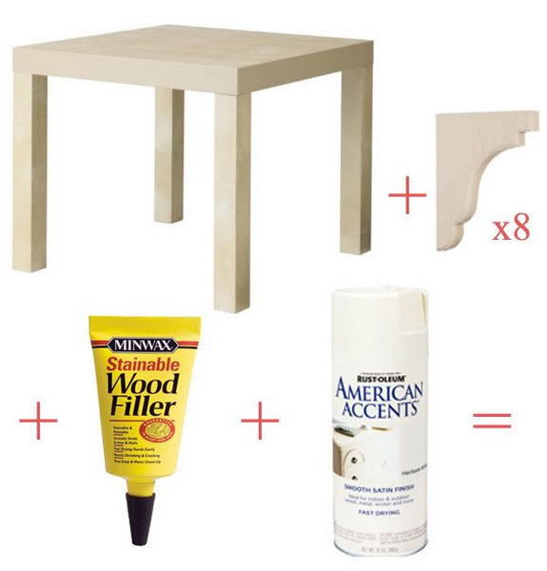 Stylish Ikea Lack Side Table Corbels.