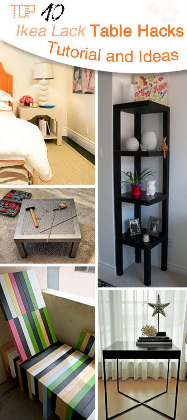 Top 10 Ikea Lack Table Hacks Tutorial and Ideas!