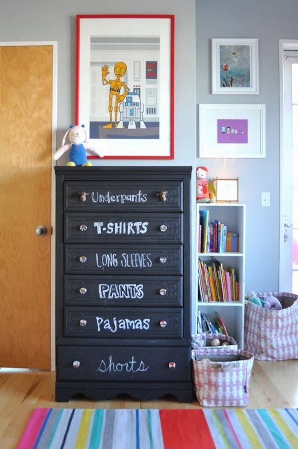 Label Drawers With Chalk.