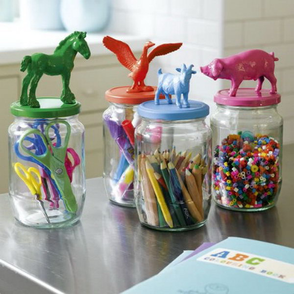 Cute Animal Storage Jars.